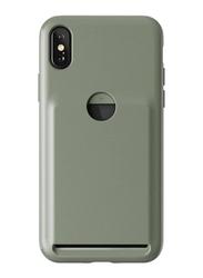 Vrs Design Apple iPhone X Damda Fit Card Slot Slim Wallet Mobile Phone Case Cover, Eucalyptus Green