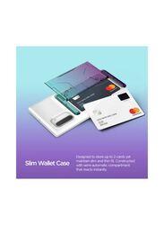 Vrs Design Samsung Galaxy Note 10 Damda Glide Shield Semi Automatic Card Wallet Mobile Phone Case Cover, Green Purple