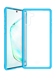ITskins Samsung Galaxy Note 10 Hybrid Solid Mobile Phone Case Cover, Dual Layer with Hexotek 2.0 Drop Protection, Blue and Transparent