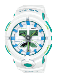 Casio G-Shock Analog/Digital Watch for Men With Resin Band, Water Resistant and Chronograph, GA-500WG-7ADR, white-Multicolour