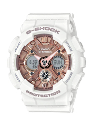 Casio Baby-G Analog/Digital Watch for Women With Resin Band, Water Resistant and Chronograph, GMA-S120MF-7A2DR, White-Rose Gold