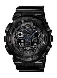 Casio G-Shock Analog/Digital Watch for Men With Resin Band, Water Resistant and Chronograph, GA-100CF-1ADR, Black
