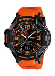 Casio G-Shock Analog/Digital Watch for Men With Resin Band, Water Resistant and Chronograph, GA-1000-4ADR, Orange-Black