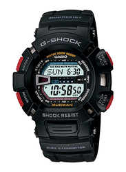 Casio G-Shock Digital Watch for Men With Resin Band, Water Resistant and Chronograph, G-9000-1VDR, Black
