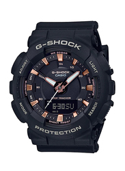 Casio Baby-G Analog/Digital Watch for Women With Resin Band, Water Resistant and Chronograph, GMA-S130PA-1ADR, Black