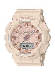 Casio Baby-G Analog/Digital Watch for Women With Resin Band, Water Resistant and Chronograph, GMA-S130PA-4ADR, Beige-Rose Gold