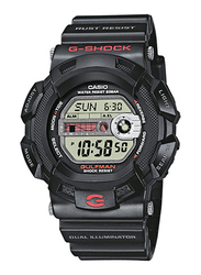 Casio G-Shock Digital Watch for Men With Resin Band, Water Resistant and Chronograph, G-9100-1DR, Black