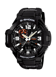 Casio G-Shock Analog/Digital Watch for Men With Resin Band, Water Resistant and Chronograph, GA-1000-1ADR, Black