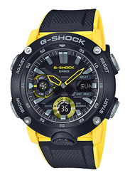 Casio G-Shock Analog/Digital Watch for Men With Resin Band, Water Resistant and Chronograph, GA-2000-1A9DR, Multicolour-Black