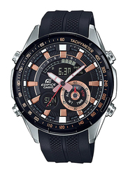 Casio Edifice Analog/Digital Watch for Men With Resin Band, Water Resistant and Chronograph, ERA-600PB-1AVUDF, Black