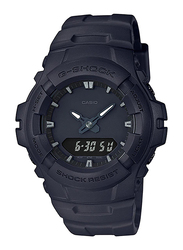 Casio G-Shock Digital Watch for Men With Resin Band, Water Resistant and Chronograph, G-100BB-1ADR, Black