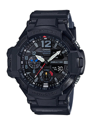 Casio G-Shock Analog/Digital Watch for Men With Resin Band, Water Resistant and Chronograph, GA-1100-1A1DR, Black