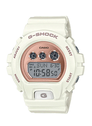 Casio Baby-G Digital Watch for Women With Resin Band, Water Resistant and Chronograph, GMD-S6900MC-7DR, White-Rose Gold