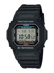 Casio G-Shock Digital Watch for Men With Resin Band, Water Resistant and Chronograph, G-5600E-1DR, Black