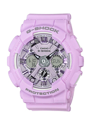 Casio Baby-G Analog/Digital Watch for Women With Resin Band, Water Resistant and Chronograph, GMA-S120DP-6ADR, Light Purple