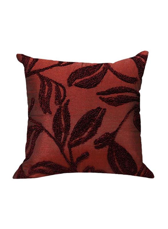 OraOnline Amondi Red/Maroon Decorative Cushion/Pillow, 40x40 cm