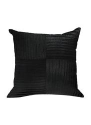 OraOnline Kyrah One Black Decorative Cushion/Pillow, 40x40 cm