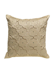 OraOnline Alizia Beige Decorative Cushion/Pillow, 40x40 cm