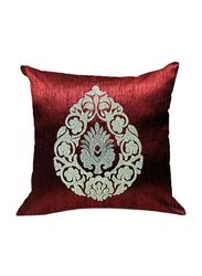 OraOnline Rover Maroon Decorative Cushion/Pillow, 40x40 cm