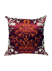 OraOnline Celia Maroon Decorative Cushion/Pillow, 40x40 cm