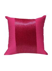 OraOnline Patch Pink Decorative Cushion/Pillow, 40x40 cm