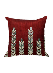 OraOnline Amelia Maroon Decorative Cushion/Pillow, 40x40 cm