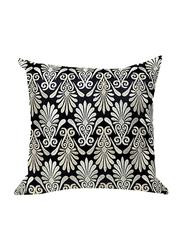 OraOnline Enlighten Black Decorative Cushion/Pillow, 40x40 cm