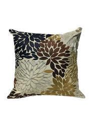 OraOnline Petals Gold Decorative Cushion/Pillow, 40x40 cm