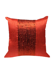 OraOnline Delphi Orange Decorative Cushion/Pillow, 40x40 cm