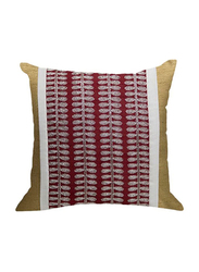 OraOnline Alice Maroon Decorative Cushion/Pillow, 40x40 cm