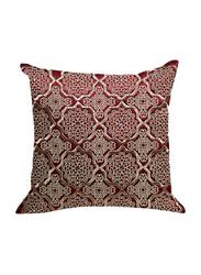 OraOnline Alizia Maroon Decorative Cushion/Pillow, 40x40 cm