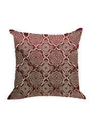OraOnline Alizia Maroon Decorative Cushion/Pillow, 40x40 cm
