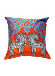 OraOnline No. 40 Multicolor Decorative Cushion/Pillow, 40x40 cm