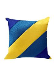 OraOnline Rosetta Blue/Yellow Decorative Cushion/Pillow, 40x40 cm