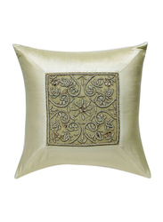 OraOnline Elite Off White Decorative Cushion/Pillow, 40x40 cm