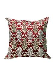 OraOnline Enlighten Maroon Decorative Cushion/Pillow, 40x40 cm