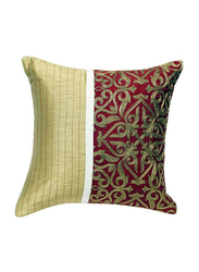 OraOnline Augusta Maroon Decorative Cushion/Pillow, 40x40 cm