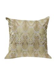 OraOnline Enlighten Off White Decorative Cushion/Pillow, 40x40 cm