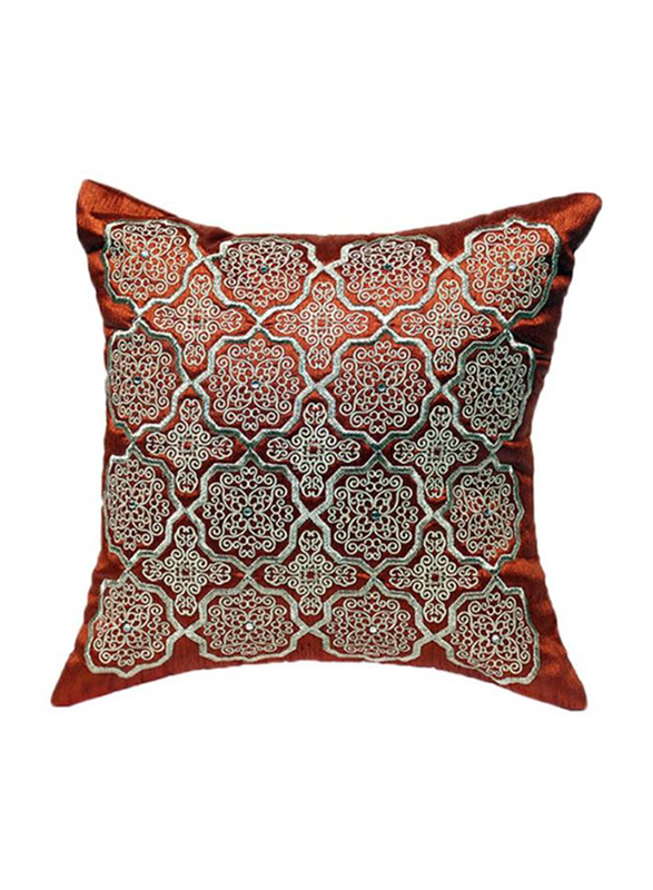 OraOnline Alizia Rust Decorative Cushion/Pillow, 40x40 cm