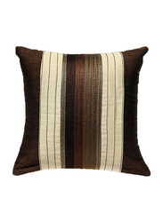 OraOnline Agatha Brown Decorative Cushion/Pillow, 40x40 cm