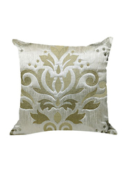 OraOnline Celia Off White Decorative Cushion/Pillow, 40x40 cm