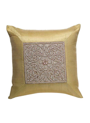 OraOnline Elite Shiny Gold Decorative Cushion/Pillow, 40x40 cm