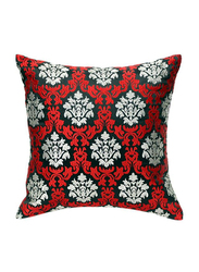 OraOnline Rosario Black/Red Decorative Cushion/Pillow, 40x40 cm