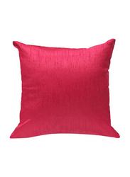 OraOnline Plain Pink Decorative Cushion/Pillow, 40x40 cm