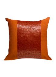 OraOnline Patch Orange Decorative Cushion/Pillow, 40x40 cm
