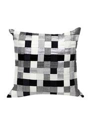 OraOnline Matrix SQ Black/Grey Decorative Cushion/Pillow, 40x40 cm