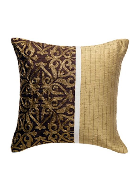 OraOnline Augusta Brown Decorative Cushion/Pillow, 40x40 cm
