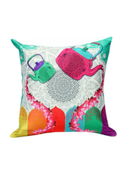 OraOnline No. 18 Multicolor Decorative Cushion/Pillow, 40x40 cm