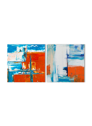 OraOnline 2-Piece Set of Abstract Printed Stretched Canvas, Modern Wall Collection, WACC-A203