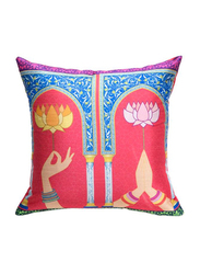 OraOnline No. 36 Multicolor Decorative Cushion/Pillow, 40x40 cm